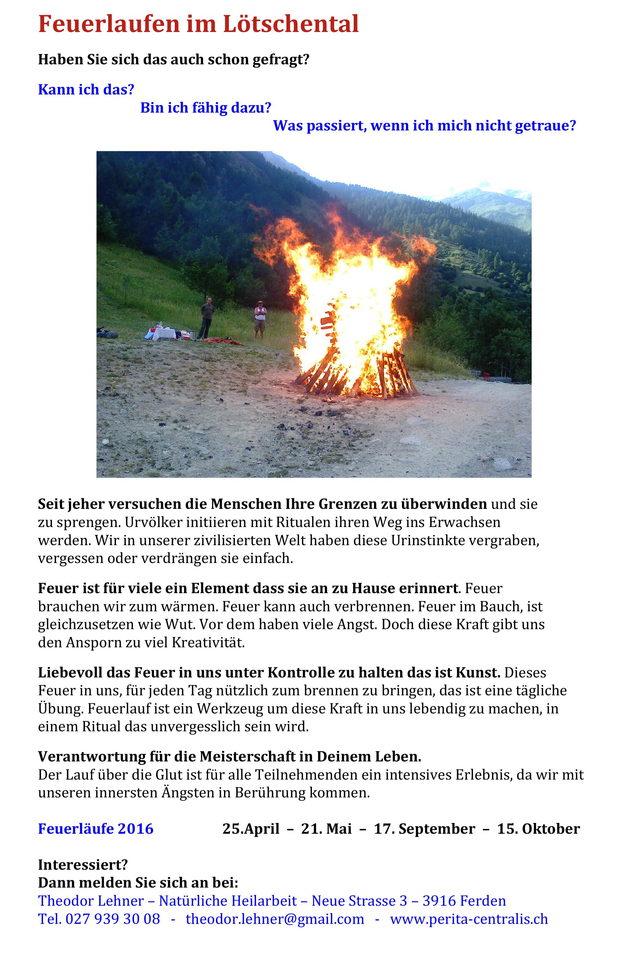 Feuerlaufen im Lötschental