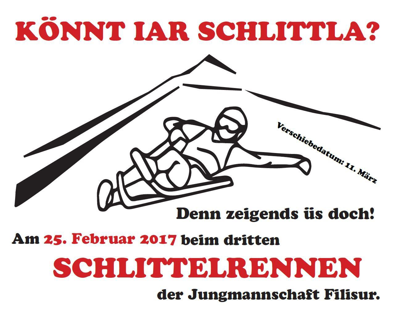 3. Schlittelrennen Sela - Filisur der Jungmannschaft Filisur