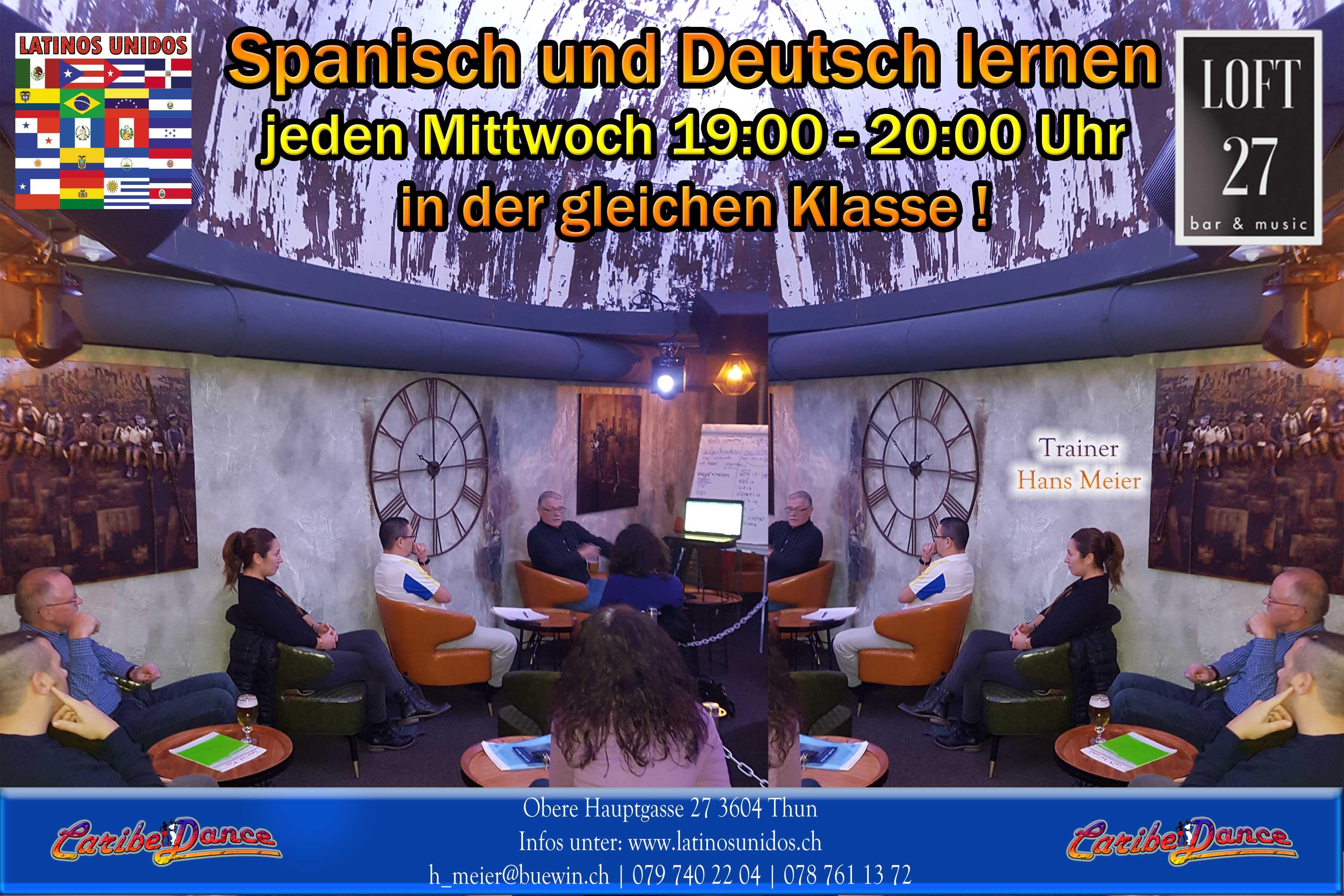 Deutsch und Spanischunterricht im Loft 27 Bar