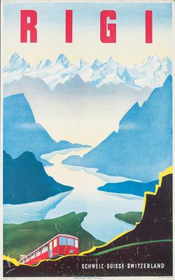 Martin Peikert, Rigi, 1940, Foto: Museum für Gestaltung Zürich, Plakatsammlung © ZHdK / 2016, ProLitteris, Zurich