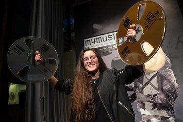 Preisvergaben am m4music Veronica Fusaro